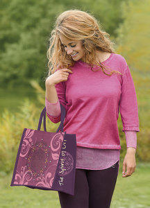 Strick-Pulli mit Seide pink/orchidee - The Spirit of OM