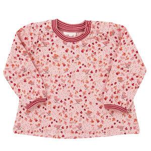 Langarmshirt - rosa bedruckt - People Wear Organic