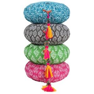 Meditationskissen RAJA-ZAFU Lotus Design® - Bio-Buchweizenschalen - Lotus Design