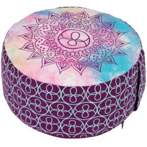 Meditationskissen CHAKRA-STYLE Lotus Design - Bio-Buchweizenschalen - Lotus Design