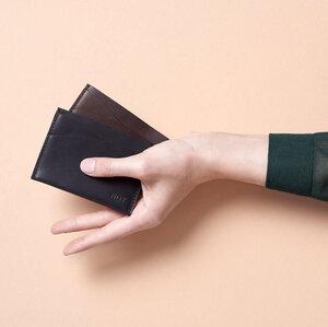 CARDHOLDER \\ Kartenhalter aus Leder Visitenkarten Etui Olivenleder - NOY