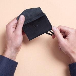 ELASTIC WALLET \\ Kleines Portemonnaie aus Leder Mini Wallet  - NOY