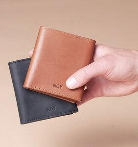SLIM WALLET \\ Herren Portemonnaie aus Leder Geldbörse schwarz braun - NOY