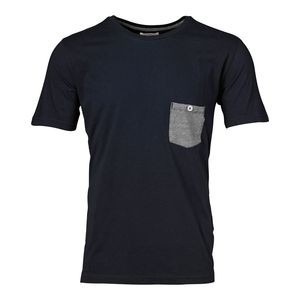 Single Jersey Tee with Striped Pocket - KnowledgeCotton Apparel