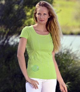 Yoga-Shirt Blume des Lebens Kiwi - The Spirit of OM