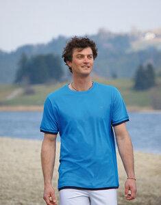 Basic T-Shirt Azurblau - The Spirit of OM