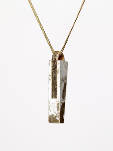 [GS01] Beton Halskette Kette - 925 Silber GOLD - Ovisproducts