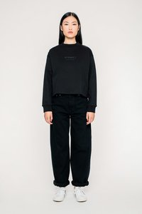'Logo' Cropped Sweater Black - Rotholz