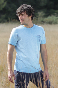 T-Shirt Men Nature Spirit Türkisblau - The Spirit of OM