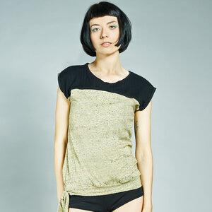 LASALINA - Elegantes Rundhalsshirt aus Biobaumwolle - LASALINA