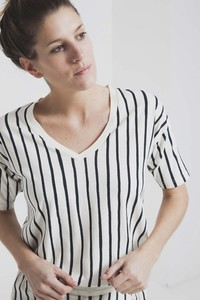 Thinking MU Vertical Lines Tee - thinking mu