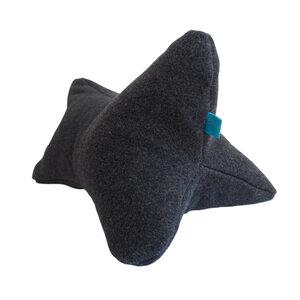 Lesekissen/Nackenrolle anthrazit, Füllung Dinkelspelz - bingabonga®