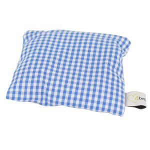 Duftendes Lavendelkissen blau/weiß kariert 10x10 cm -Handgemacht  - 4betterdays