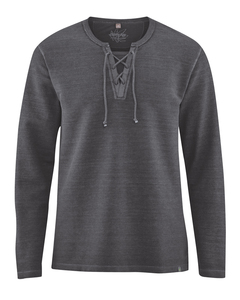 Herren Piqué-Langarm-Shirt - HempAge