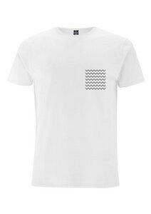 Herren T-Shirt Weiß mit Print (fair & bio) - Hanseat