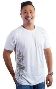 Fairwear Bambus Men Weiß Fichtenwald - Life-Tree
