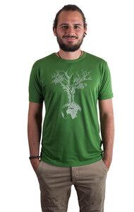 Fairwear Bambus Shirt Men Leaf Green Weltenbaum - Life-Tree