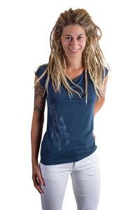 Fairwear Bambus Shirt Women Denim Blue Weidenast - Life-Tree
