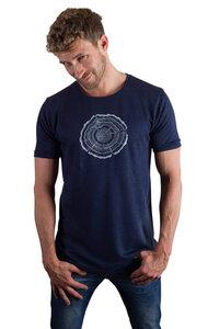 Hanf Shirt für Herren 'Treeslice' in Denim Blue - Life-Tree
