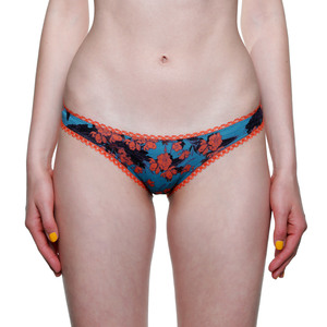 "Bikini Slip ""Steady Suzie"" Orange Flowers - VATTER"