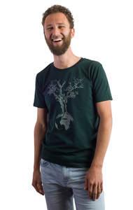 Fairwear Organic Shirt Scarab Green Weltenbaum - Life-Tree