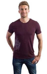 Fairwear Organic Shirt Men Grape Red Silberweide - Life-Tree