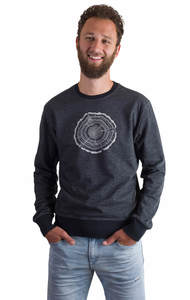 Fairwear Organic Sweater Men Limo Grey Treeslice - Life-Tree