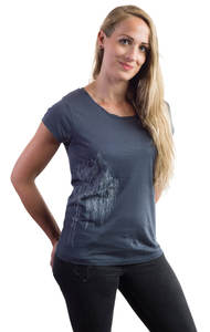 Fairwear Tencel Shirt Women Inka Grey Silberweide - Life-Tree