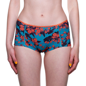 "Boy Short ""Easy Emma"" Orange Flowers - VATTER"