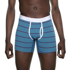 Boxer Brief 'Classy Claus' Blue/Purple Stripes - VATTER
