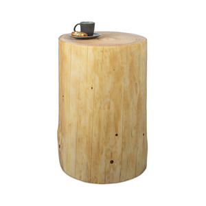 Baumstamm Beistelltisch Fichte geölt Gartendeko Holzblock Holzklotz - GreenHaus