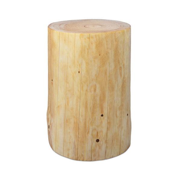 Greenhaus baumstamm beistelltisch fichte ge lt for Holzklotz beistelltisch