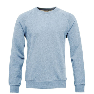 Sweat melange with raglan - Blue melange - KnowledgeCotton Apparel