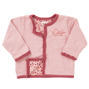 Wendejacke - rosa Muster - People Wear Organic