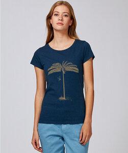 Basic T-Shirt mit Motiv / goldene Palme - Kultgut