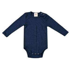 Wolle-Seide Body - dunkelblau  - People Wear Organic