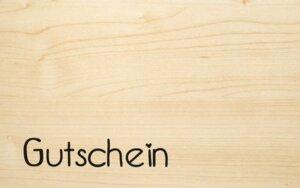 Holzgrußkarte Gutschein - Biodora