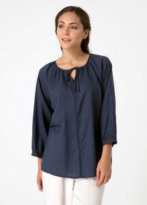 Bluse aus Tencel® mit Bindeband am Ausschnitt - ORGANICATION