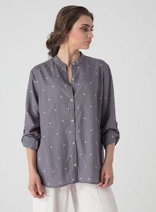 Leichte Bluse aus Tencel® mit Allover Print - ORGANICATION