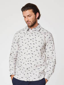 Mitchel Aviator Print Shirt - Thought | Braintree