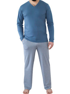 Herren Homewear Hose Schlafhose 2 Farben Bio-Baumwolle Pyjamahose - Albero