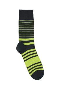 Streifen Socken Biobaumwolle GOTS hellgrün - VNS Organic