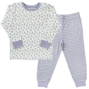 Pyjama - weiß bedruckt - People Wear Organic