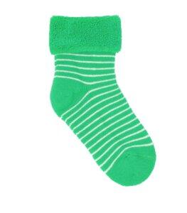 Stripe Terry Baby Socks grün - VNS Organic