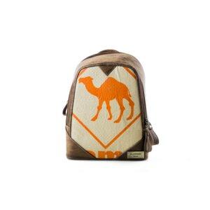 Rucksack Cutie 'Orange Camel' aus recyceltem Zementsack - Elephbo