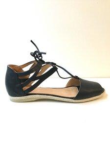 Sandale mit Bindung Werbio Nappa schwarz 802 - Werner Schuhe
