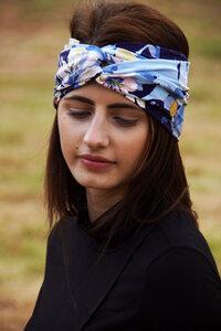 Stirnband im Turbanlook - Pastell Flowers - dreisechzig