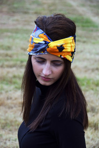 Stirnband im Turbanlook - Summer Flowers - dreisechzig