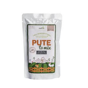 Bio-Pute PUTE TO MIX 150g Hunde-Nassfutter aus 100% Fleisch - naftie