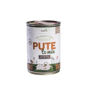 Bio-Pute PUTE TO MIX 400g Hunde-Nassfutter aus 100% Fleisch - naftie